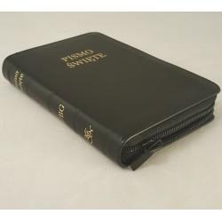 Biblia UBG A6 Skóra miękka, zamek, czarna