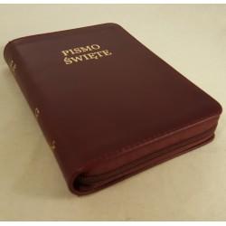 Biblia UBG A6 Skóra miękka, zamek, bordo