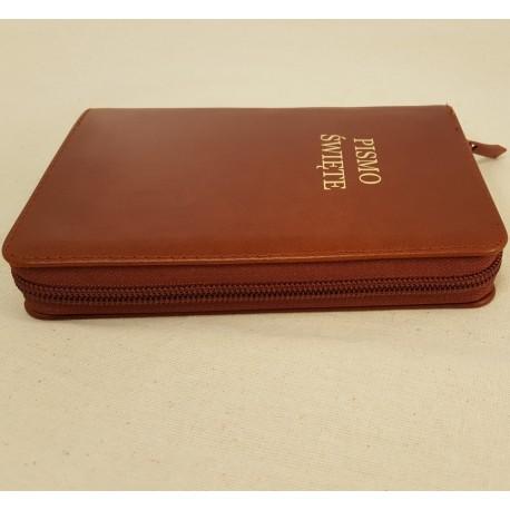 Biblia UBG F1 Skóra miękka, zamek, findik