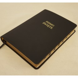 Biblia UBG F1 Skóra miękka, indeks, czarna