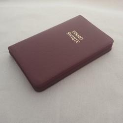 Biblia UBG F2 Skóra twarda, zamek, bordo