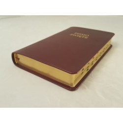 Biblia UBG F2 Skóra miękka, indeks, bordo