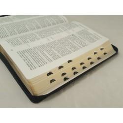 Biblia UBG F1 Skóra twarda, zamek, indeks, czarna
