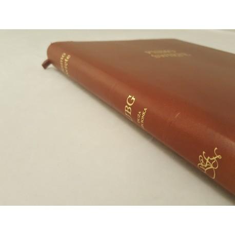 Biblia UBG F2 Skóra miękka, zamek, findik