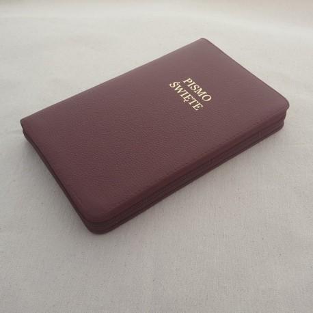 Biblia UBG F2 skóra twarda, zamek, indeks bordo