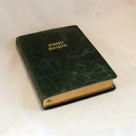 Biblia UBG F2 Skóra miękka, laguna