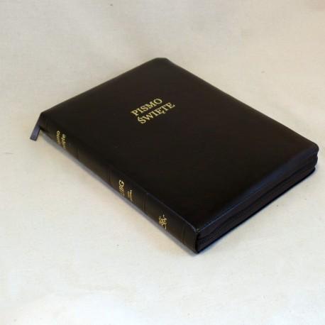 Biblia UBG F2 Skóra miękka, zamek, ciemny braz