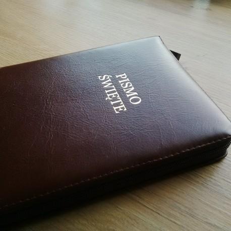 Biblia UBG F2 Skóra miękka zamek kahve