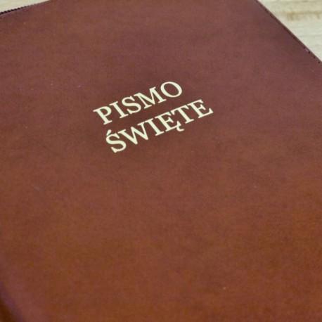 Biblia UBG F2 Skóra miękka, findik grubszy papier