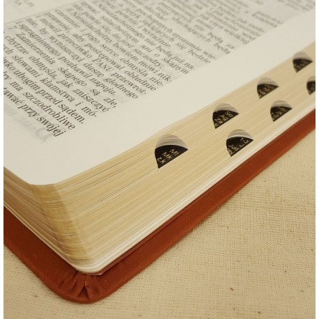 Biblia UBG F2 Skóra miękka, indeks, findik