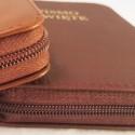 Biblie A6 (mały format) skóra miękka lub twarda, zamek (suwak)